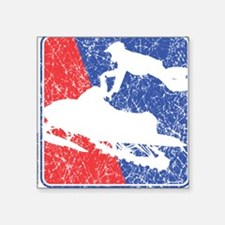 Red White and Blue Sledder Distressed Square Stick