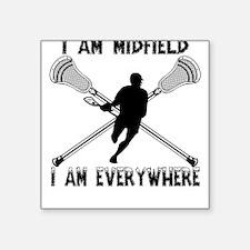 Lacrosse Middie Square Sticker