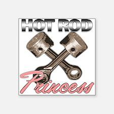 Hot Rod Princess Square Sticker