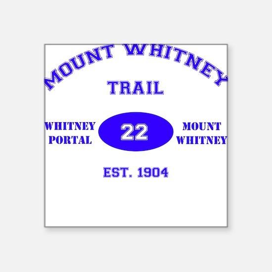 Mount Whitney Trail Square Sticker