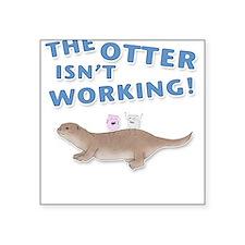 Otter Square Sticker