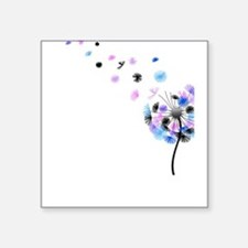 Blowing Dandelion Colorful Square Sticker