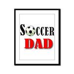SOCCER DAD.png Framed Panel Print