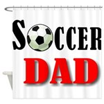 SOCCER DAD.png Shower Curtain
