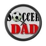 SOCCER DAD.png Large Wall Clock
