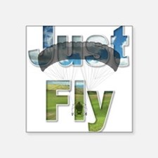 Just Fly Powered Parachute Square Sticker