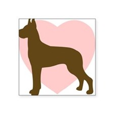 Great Dane Heart Square Sticker