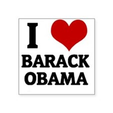 I Love Barack Obama Square Sticker