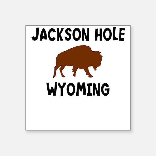Jackson Hole Wyoming Square Sticker