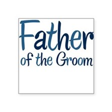 Cool Country Father Groom Square Sticker