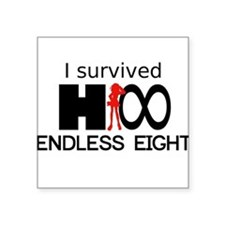 I Survived Endless Eight Square Sticker