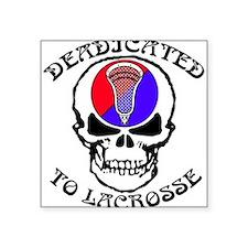 Lacrosse Deadicated Square Sticker