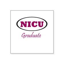 NICU Graduate Square Sticker
