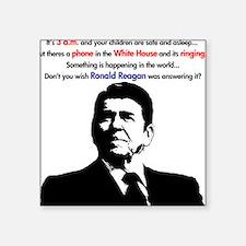 3 a.m./Reagan Answers Square Sticker