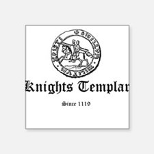 Knights Templar Ancient Seal Square Sticker