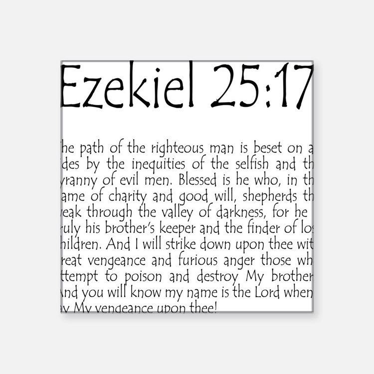Ezekiel 25:17 Square Sticker