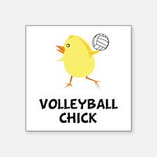 Volleyball Chick Square Sticker