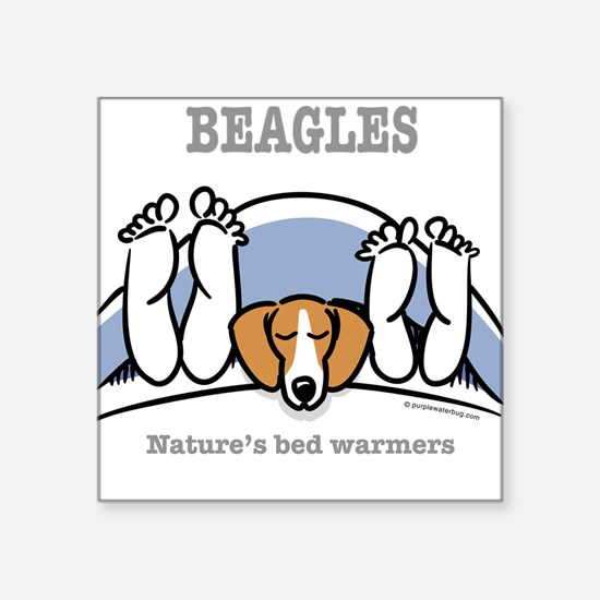 Beagle bed warmers Square Sticker