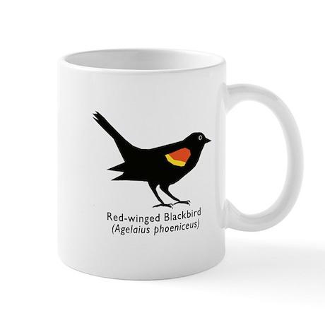 red-winged blackbird Mug