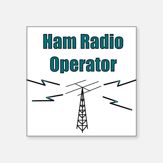 Ham Radio Operator Square Sticker