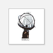 Shrug Square Sticker