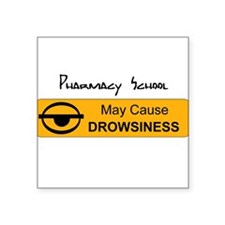 Drowsiness Square Sticker