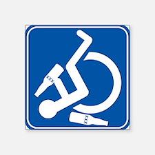Wheelie Wasted! Square Sticker