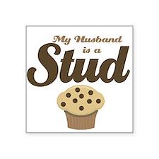 My Husband Stud Muffin Square Sticker