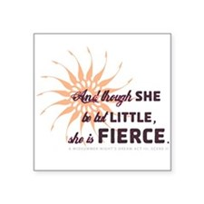 She is Fierce - Grunge Square Sticker