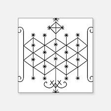 Ogoun Veve Square Sticker