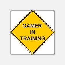 Gamer in Training Square Sticker
