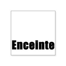 Pregnant in French. Enceinte Square Sticker
