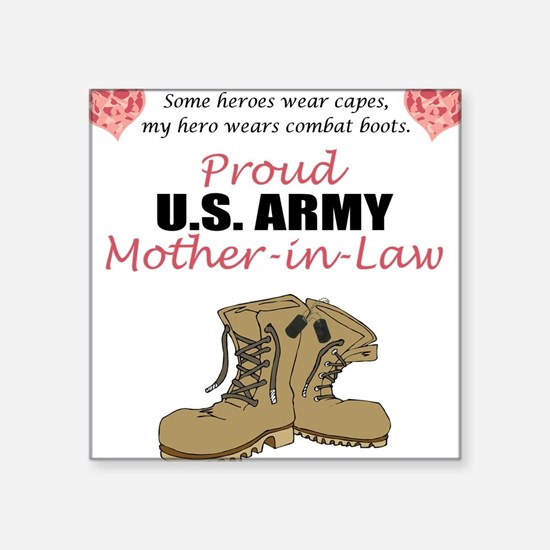 Proud US Army Mother-In-Law Square Sticker