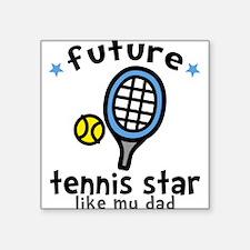Tennis - Dad Square Sticker