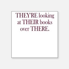 They're Their There - Men's Square Sticker