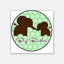 Elephant Big Brother Square Sticker