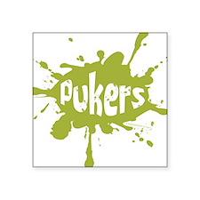 Pukers Square Sticker