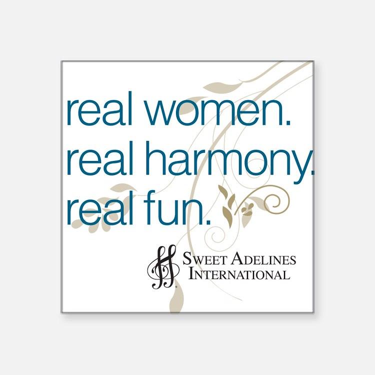 Real Women Square Sticker