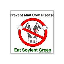 Mad Cow Square Sticker