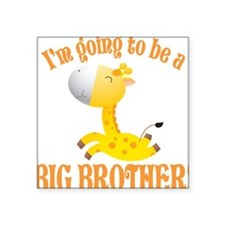 Big Brother Giraffe Square Sticker