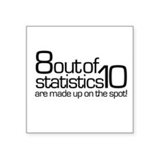 Statistics Square Sticker
