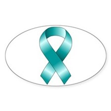 Teal Ribbon Decal