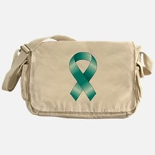 Teal Ribbon Messenger Bag