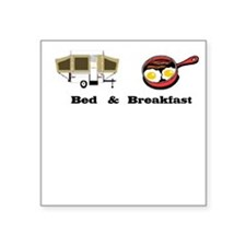 Bed and Breakfast Square Sticker
