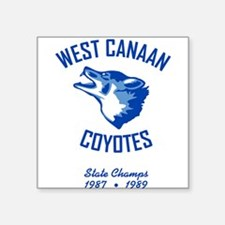 West Canaan Coyotes Square Sticker (Gray)