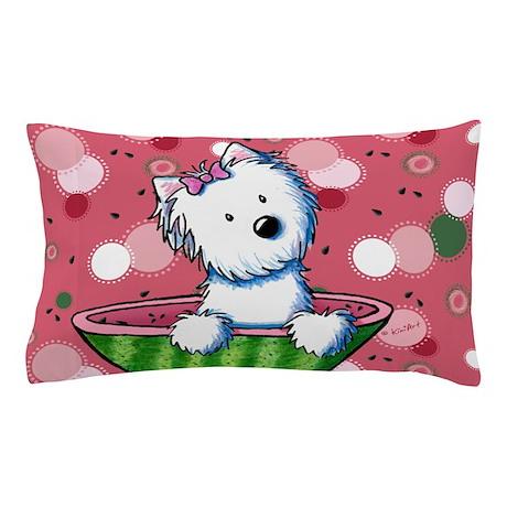 KiniArt Watermelon Westie Pillow Case