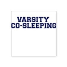 Varsity Co-Sleeping Square Sticker
