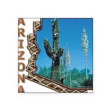 Arizona Saguaro Cactus Square Sticker
