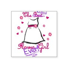 Cutest Flower Girl Ever! Purple Square Sticker