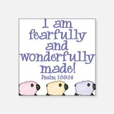 Wonderfully Made Square Sticker
